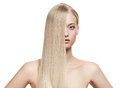 Beautiful Blonde Girl. Healthy Long Hair Royalty Free Stock Image