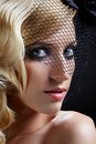 Beautiful blonde in veil Stock Photos
