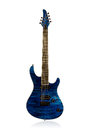 Beautiful blue electric guitar Royalty Free Stock Photo