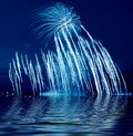 Beautiful blue firework Stock Image