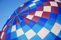 Beautiful Blue Hot Air Balloon Inflating Royalty Free Stock Photo