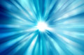 Beautiful blue rays of light Royalty Free Stock Photo