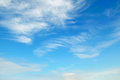 Beautiful blue sky with light clouds Royalty Free Stock Photography