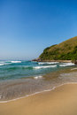 Beautiful blue water and sky in praia mole beach florianopolis santa catarina brazil Royalty Free Stock Image