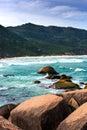 Beautiful blue water and sky in praia mole beach florianopolis santa catarina brazil Stock Photos