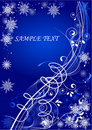 Beautiful blue winter card Stock Photography