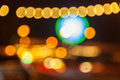 Beautiful boke patterns of lighting for bokeh background Royalty Free Stock Photos