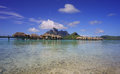 Beautiful bora bora view of Royalty Free Stock Photos