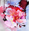 Beautiful bouquet of flowers watercolor illustration Royalty Free Stock Images