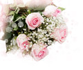 Beautiful bouquet of pink roses Stock Photos