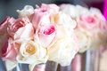 Beautiful bouquet of roses in a vase. Royalty Free Stock Photo