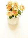 Beautiful bouquet of roses in a white vase Royalty Free Stock Photo