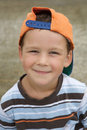 Beautiful boy with cap smiling Royalty Free Stock Image