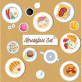 Beautiful breakfast set Royalty Free Stock Photo