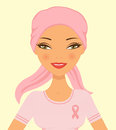 Beautiful breast cancer awareness woman Stock Photo