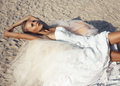 Beautiful bride with blond hair Stock Image