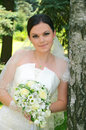 Beautiful bride with a bouquet Royalty Free Stock Photos