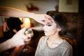 Beautiful Bride Doing Her Hair...