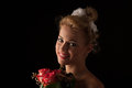 Beautiful bride isolated over black background Stock Image