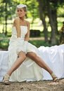 Beautiful bride outdoor Royalty Free Stock Photography