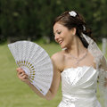 Beautiful bride outdoor Stock Photo