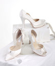 Beautiful bride's shoes Stock Photo