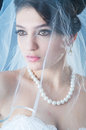 Beautiful bride in studio Stock Photography