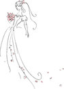 Beautiful bride vector illustration of Stock Image