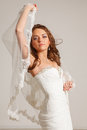 Beautiful bride young in studio Stock Photography
