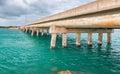 Beautiful bridge along the ocean, Keys Island, FL Royalty Free Stock Photo