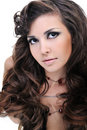 Beautiful brown curly hairs Stock Photo