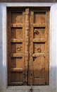 Beautiful Brown Indian Wood Door Royalty Free Stock Photo