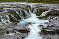 Beautiful Bruarfoss waterfall with turquoise water, South Iceland Royalty Free Stock Photo