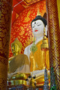 Beautiful Buddha Image In Temple Stock Photos