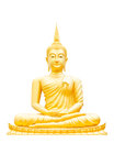 Beautiful buddha image in thailand golden Royalty Free Stock Images