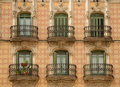 Beautiful building in Barcelona Spain Royalty Free Stock Photo