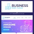 Beautiful Business Concept Brand Name Arrange, design, stack, 3d