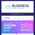 Beautiful Business Concept Brand Name Castle, defense, fort, for