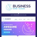 Beautiful Business Concept Brand Name Moon, Night, star, weather