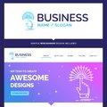 Beautiful Business Concept Brand Name reach, Touch, destination