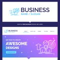 Beautiful Business Concept Brand Name success, user, target, ach