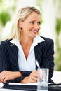 Beautiful business woman smiling at a meeting Royalty Free Stock Photos