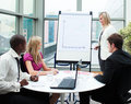 Beautiful businesswoman giving a presentation Royalty Free Stock Photo