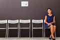Beautiful businesswoman waiting job interview Royalty Free Stock Image