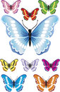 Beautiful butterflies with difrent colors and gradients elements for design vector illustration Stock Image