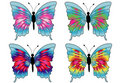 Beautiful Butterfly Drawings Royalty Free Stock Image