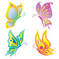 Beautiful butterfly vector illustration of Stock Images