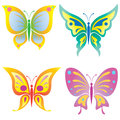 Beautiful butterfly vector illustration of icons Stock Photo