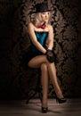 Beautiful cabaret woman Royalty Free Stock Photo