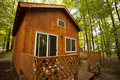 Beautiful cabin in the woods Stock Photos